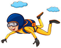 A simple sketch of a man sky diving Royalty Free Stock Photography