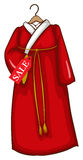 A simple sketch of a red Asian dress Royalty Free Stock Photo