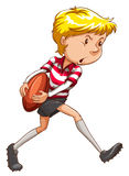 A simple sketch of a rugby player Royalty Free Stock Photo