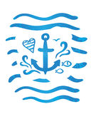 A simple sketch of an sea anchor Royalty Free Stock Photo
