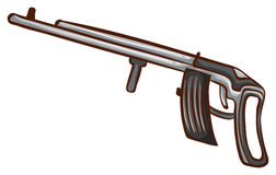 A simple sketch of a soldier's gun Royalty Free Stock Photography