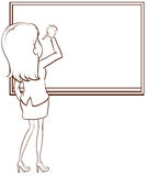 A simple sketch of a teacher writing Royalty Free Stock Photos