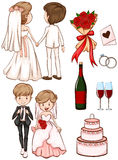 A simple sketch of a wedding Royalty Free Stock Image