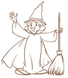A simple sketch of a wizard Stock Photo