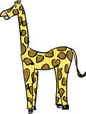 Giraffe Sketch. A simple sketch of a yellow giraffe with brown spots Vector Illustration