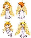 Simple sketches of angels Royalty Free Stock Images
