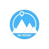 Simple ski resort logo Stock Images