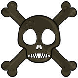 Simple skull. Black isolated on white background Stock Images