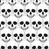 Simple skull seamless pattern Stock Photography