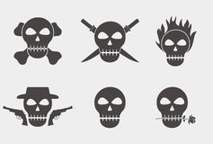 Simple Skull Silhouette Stock Image