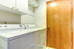 Simple small laundry area Royalty Free Stock Image