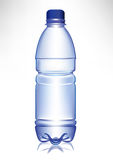 Simple small plastic water bottle vector illustration