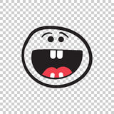 Simple smile with tongue vector icon. Hand drawn face doodle ill Royalty Free Stock Photography