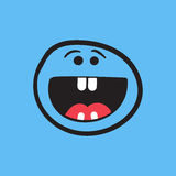 Simple smile with tongue vector icon. Stock Image