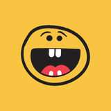 Simple smile with tongue vector icon. Royalty Free Stock Photos