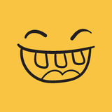 Simple smile with tongue vector icon Stock Image