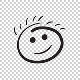 Simple smile vector icon. Hand drawn face doodle illustration on Royalty Free Stock Photo