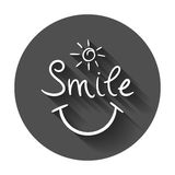 Simple smile vector icon. Royalty Free Stock Image