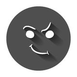 Simple smile vector icon. Royalty Free Stock Images