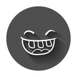 Simple smile vector icon. Royalty Free Stock Photography