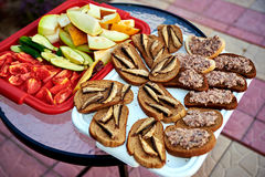 Simple Snack outdoors Stock Images