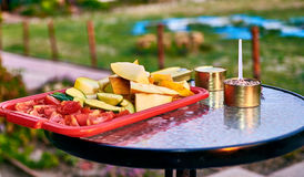 Simple Snack outdoors Royalty Free Stock Images