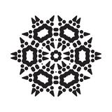 Simple Snowflake Icon Isolated on White Background. Simple snowflake icon with dots and round elements isolated on white background. Snow flake element for stock illustration