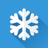 Simple snowflake icon in flat style Stock Image