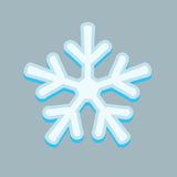 Simple snowflakes isolated on grey. Royalty Free Stock Photo