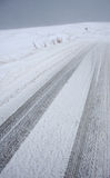 Snowy road Royalty Free Stock Photography