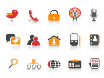 Simple social media icons Stock Photography