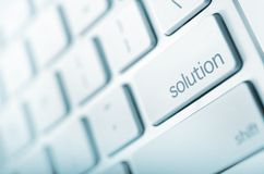 Simple Solution. Keyboard Solution Button. Just Press It! Abstract Technology and Business Royalty Free Stock Photos