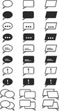 Simple Speech Bubbles. Icon Set Royalty Free Stock Photography
