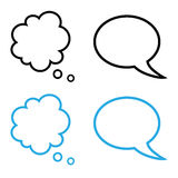 Simple speech and thought bubbles collection Royalty Free Stock Images