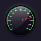 Simple Speedometer Design, Vector Illustration. Royalty Free Stock Photo