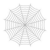 Simple spider cobweb illustration isolated on background. Simple spider cobweb illustration isolated on background Stock Photos