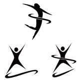 Simple sport figures. A illustration of activity figures Royalty Free Stock Image