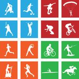 16 simple sport icon. S - vector royalty free illustration