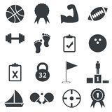 Simple sport icon set Royalty Free Stock Photography
