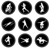 Simple sport icons set Stock Photos
