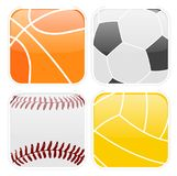 Simple sport icons Stock Photos