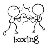 Simple sports figure. Illustration of a simple sporting figure Royalty Free Stock Images