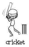 Simple sports figure. Illustration of a simple sporting figure Royalty Free Stock Photography