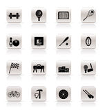 Simple Sports gear and tools icons. Vector icon set Stock Photos