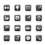 Simple Sports gear and tools icons Stock Images