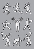 Simple Sports Icon Stock Image