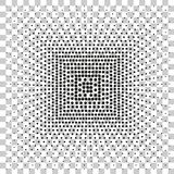 Simple Square Black Halftone, at Transparent Effect Background Stock Photography