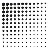 Simple Square Black Halftone, at White Background Stock Image