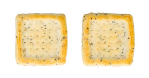 Simple square crackers isolated Stock Image