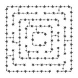 A Square Labyrinth. Collect All The Geometric Shapes And ... Simple Square Maze